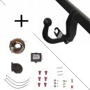 Attelage Peugeot 308 Break (05/14-) Col de cygne + faisceau universel 7 broches + boitier electronique