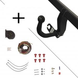 Attelage Daihatsu CHARADE (05/11-) Col de cygne + faisceau universel 7 broches + boitier électronique