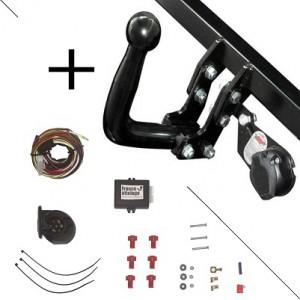 Attelage Ford Ranger pare-chocs sans marchepied  (03/12-) Col de cygne + faisceau universel 7 broches + boitier électronique