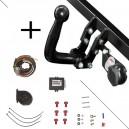 Attelage Fiat 500L / Fiat 500L Living (10/12-) Col de cygne + faisceau universel 7 broches + boitier électronique