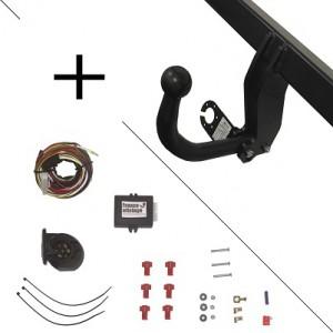 Attelage Fiat Scudo (03/07-) sans radars de recul Col de cygne + faisceau universel 7 broches + boitier électronique
