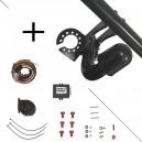 Attelage Toyota Verso (04/09-) Col de cygne + faisceau universel 7 broches + boitier électronique