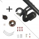 Attelage Fiat PANDA (4x4 06/04-01/12) Col de cygne + faisceau universel 7 broches + boitier électronique