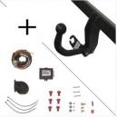 Attelage Fiat Punto (06/03-12/10) Col de cygne + faisceau universel 7 broches + boitier électronique