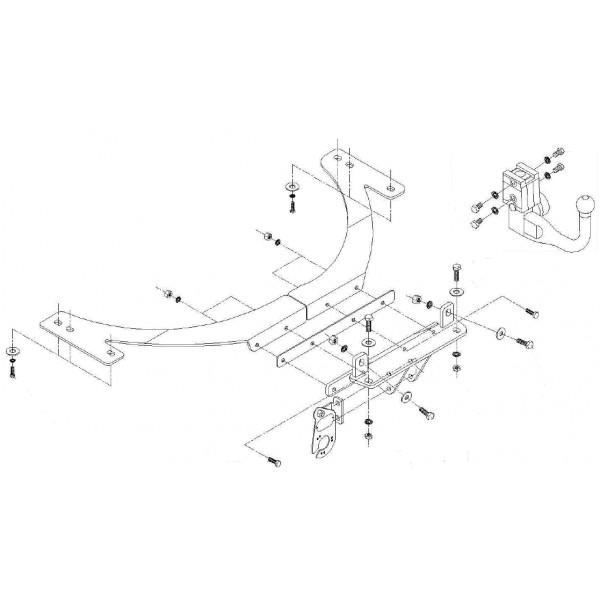attelage volvo v50 break rdsov 6512. Black Bedroom Furniture Sets. Home Design Ideas