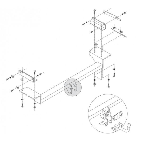 attelage nissan qashqai qashqai 2 col de cygne 6066. Black Bedroom Furniture Sets. Home Design Ideas