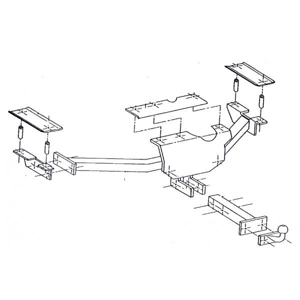 attelage opel corsa combo b standard 833. Black Bedroom Furniture Sets. Home Design Ideas