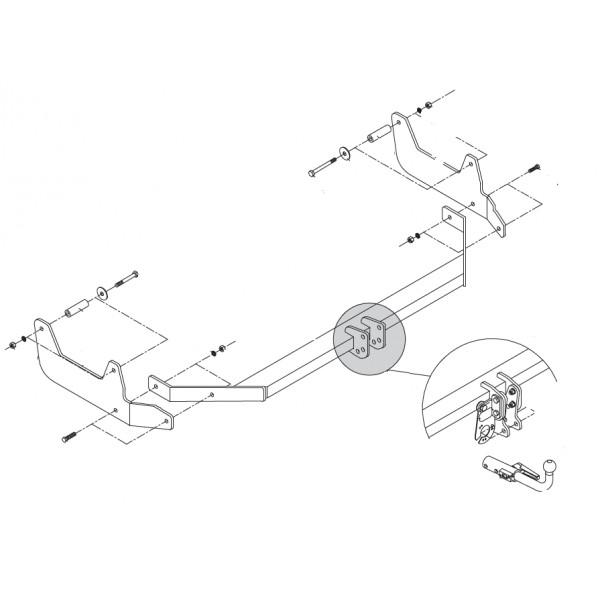 attelage dacia lodgy rotule horizontale 6676. Black Bedroom Furniture Sets. Home Design Ideas