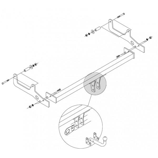 attelage dacia sandero stepway col de cygne 5839. Black Bedroom Furniture Sets. Home Design Ideas