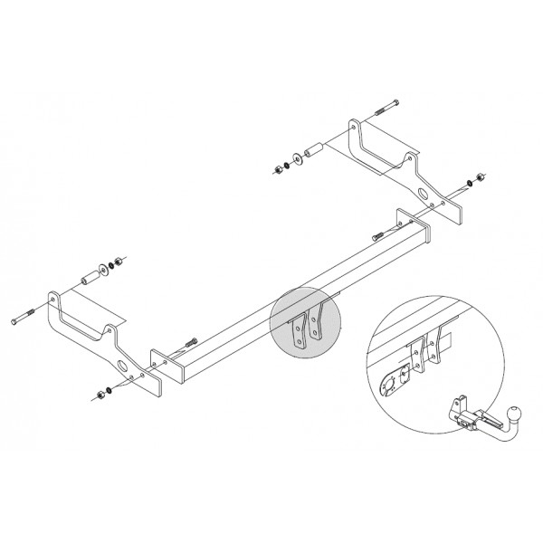 attelage dacia sandero stepway rotule horizontale 6671. Black Bedroom Furniture Sets. Home Design Ideas