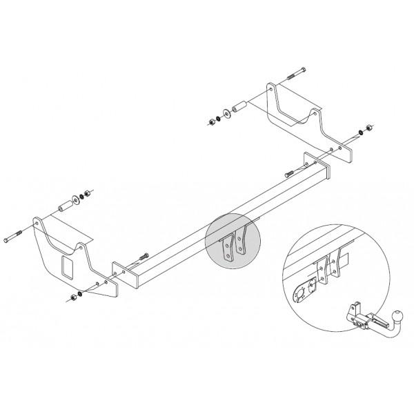 attelage dacia sandero stepway rotule horizontale 6673. Black Bedroom Furniture Sets. Home Design Ideas
