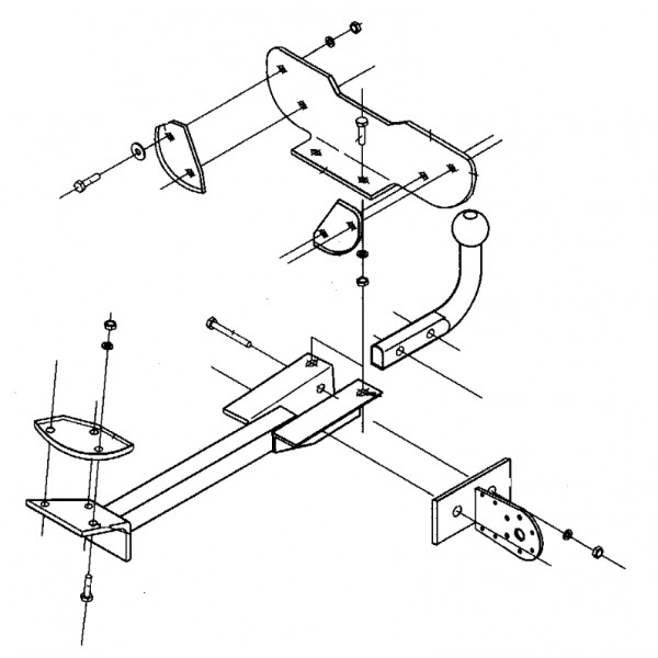 attelage fiat punto col de cygne 9676. Black Bedroom Furniture Sets. Home Design Ideas