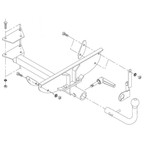attelage fiat punto rotule horizontale 6717. Black Bedroom Furniture Sets. Home Design Ideas