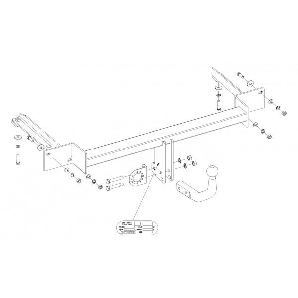 attelage fiat grande punto col de cygne 8284. Black Bedroom Furniture Sets. Home Design Ideas
