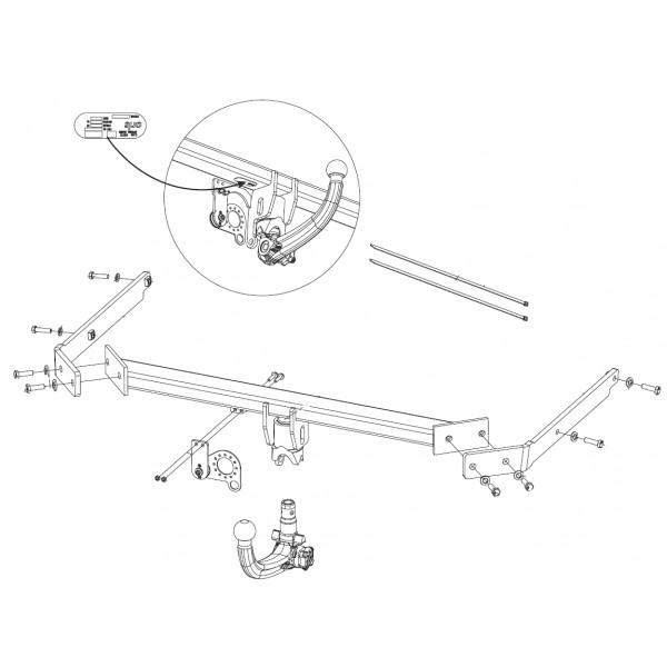 attelage ford focus c max rdsov 9814. Black Bedroom Furniture Sets. Home Design Ideas