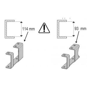 Fixation roues jumélées pour référence SIA06128