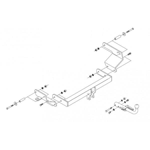 attelage peugeot bipper rdsoh faisceau universel multiplex 7 broches 10544. Black Bedroom Furniture Sets. Home Design Ideas