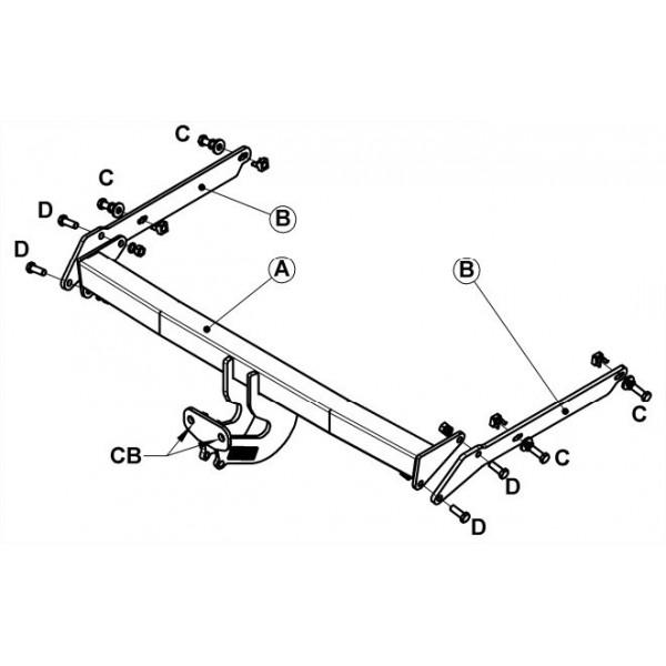 attelage ford focus c max standard 11467. Black Bedroom Furniture Sets. Home Design Ideas