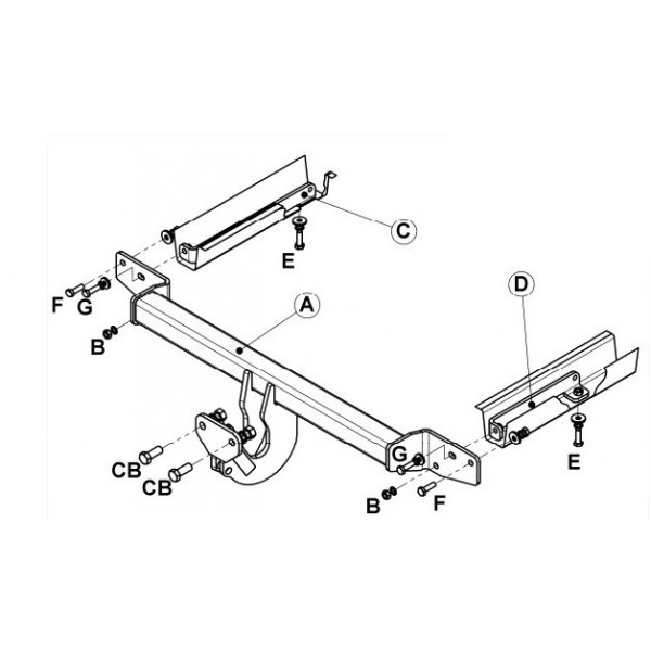 attelage fiat punto grande standard 11532. Black Bedroom Furniture Sets. Home Design Ideas