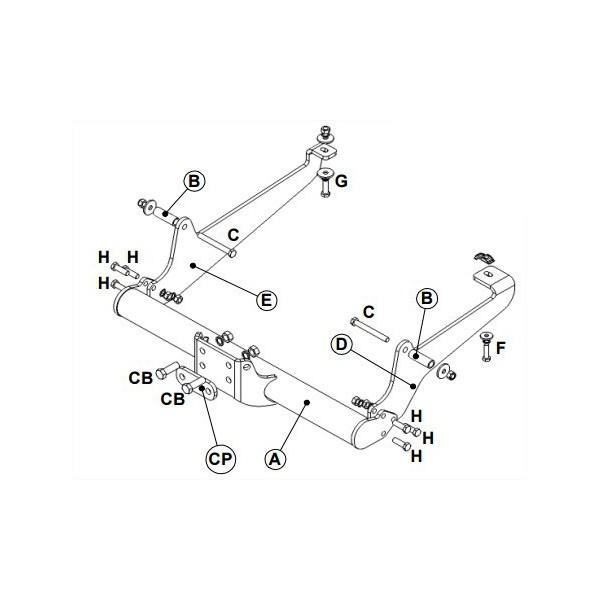attelage peugeot expert boule standard 11258. Black Bedroom Furniture Sets. Home Design Ideas