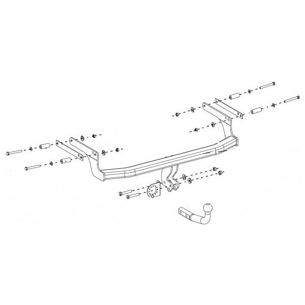 attelage dacia duster col de cygne faisceau universel multiplex 7 broches 7543. Black Bedroom Furniture Sets. Home Design Ideas