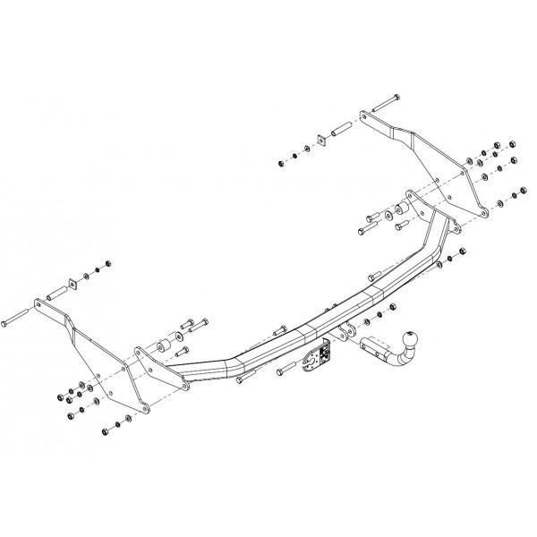 attelage renault grand espace col de cygne faisceau universel 7 broches 11199. Black Bedroom Furniture Sets. Home Design Ideas