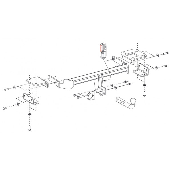 attelage kia sportage col de cygne 12935. Black Bedroom Furniture Sets. Home Design Ideas
