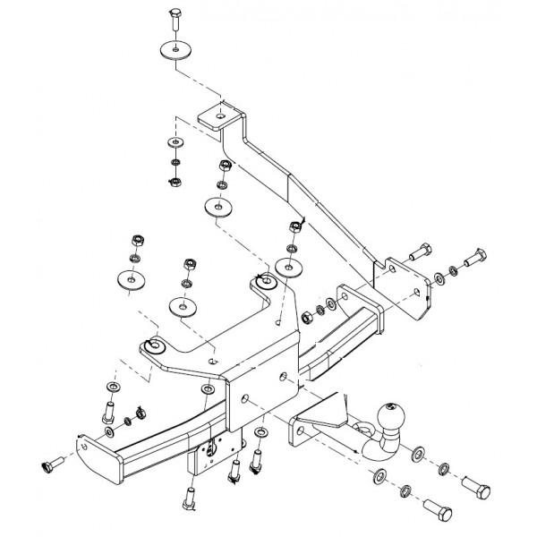 attelage renault grand espace col de cygne faisceau universel 7 broches 11195. Black Bedroom Furniture Sets. Home Design Ideas