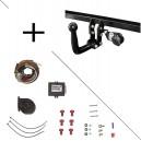Attelage Range Rover Evoque (09/11-) Col de cygne + faisceau universel 7 broches + boitier électronique