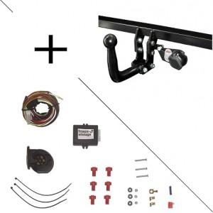 Attelage Fiat 500L Trekking (10/12-) Col de cygne + faisceau universel 7 broches + boitier électronique