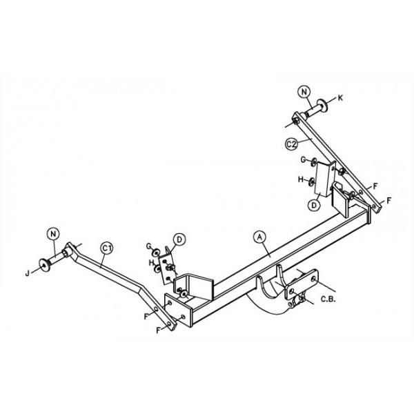 attelage renault megane 1 standard 13483