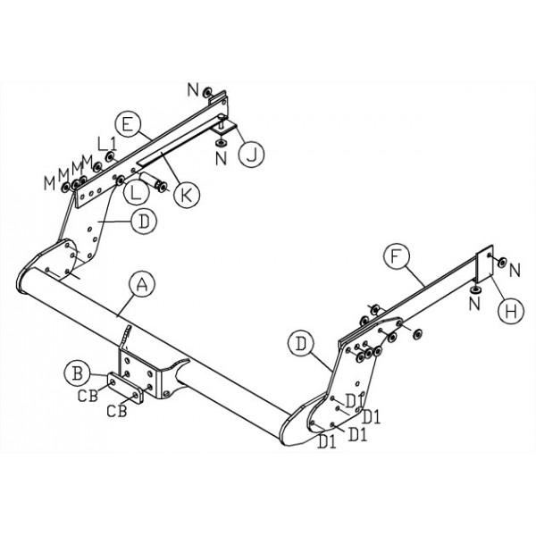 attelage nissan navara d22 standard   faisceau universel 7