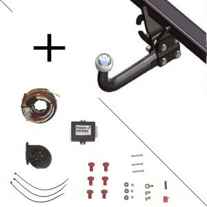 Attelage Mazda CX7 (10/07-) Col de cygne + faisceau universel 7 broches + boitier électronique