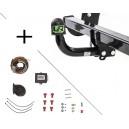 Attelage Dacia Sandero Stepway y compris GPL (01/13-) Col de cygne + faisceau universel 7 broches + boitier électronique