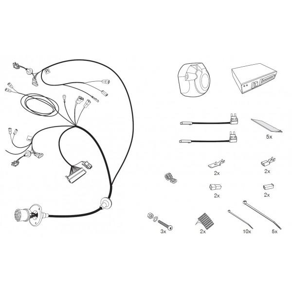 faisceau specifique 13 broches pour alfa romeo giulietta 5470. Black Bedroom Furniture Sets. Home Design Ideas