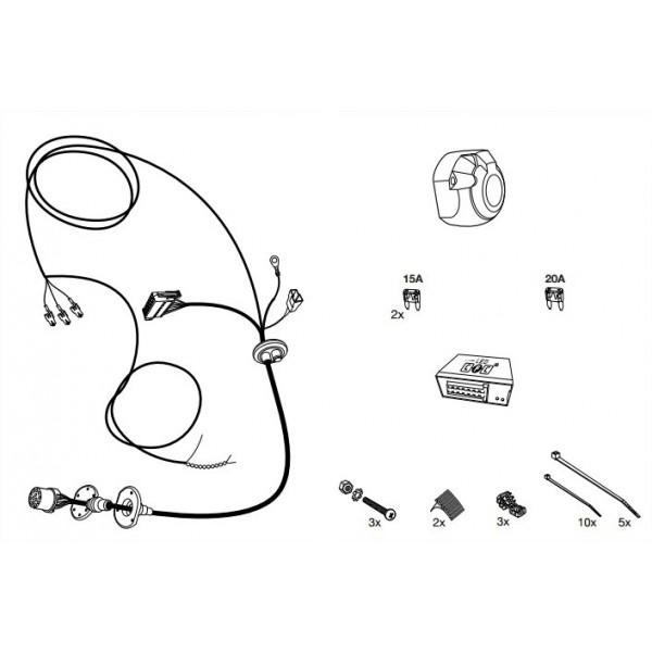 faisceau specifique 13 broches pour volkswagen touareg 5718. Black Bedroom Furniture Sets. Home Design Ideas