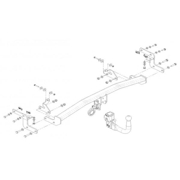 attelage citroen c4 cactus rdsov 13357. Black Bedroom Furniture Sets. Home Design Ideas