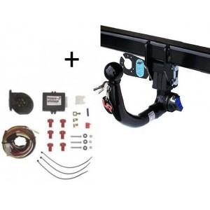 Attelage Fiat 500L Trekking (10/12-) RDSOV + faisceau universel 7 broches + boitier électronique