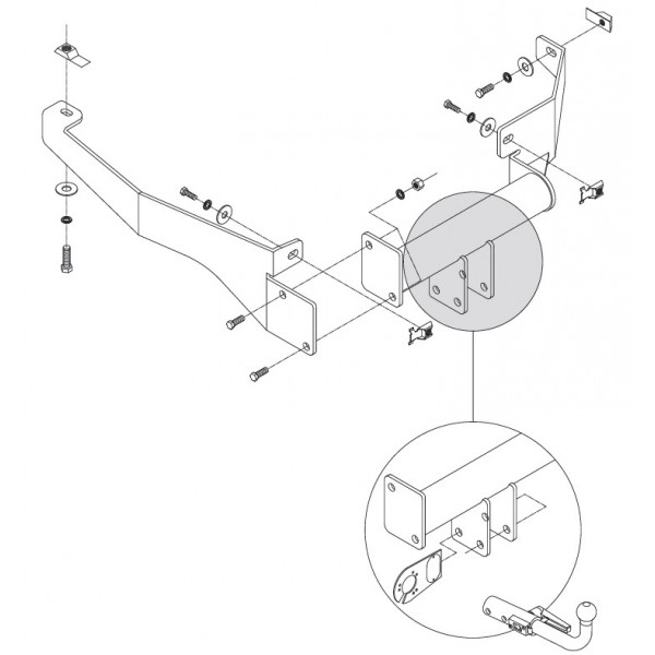 attelage peugeot 106 rdsoh faisceau universel 7 broches 13388. Black Bedroom Furniture Sets. Home Design Ideas