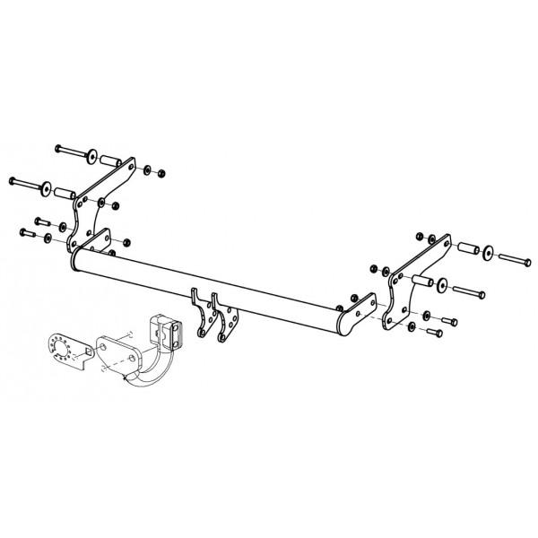 attelage dacia duster standard 11403. Black Bedroom Furniture Sets. Home Design Ideas