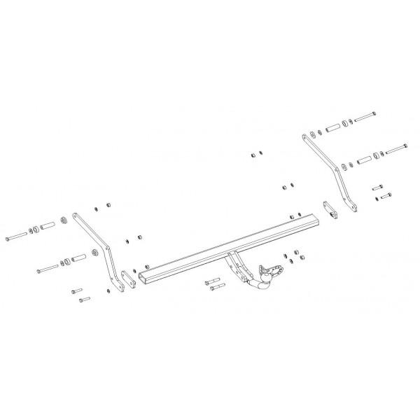 attelage dacia logan mcv ii break col de cygne 7526. Black Bedroom Furniture Sets. Home Design Ideas