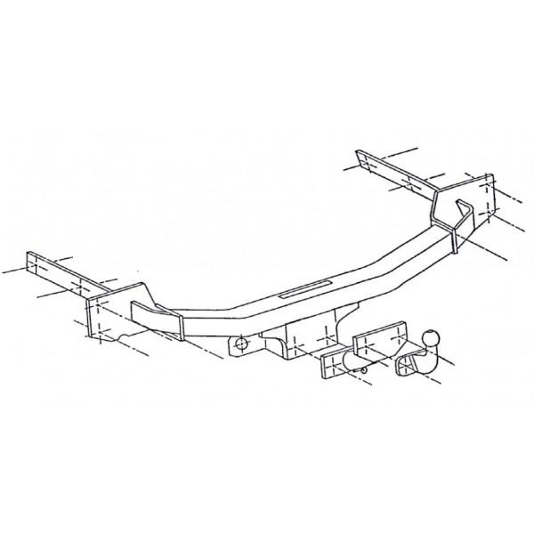 attelage ford focus standard 433. Black Bedroom Furniture Sets. Home Design Ideas