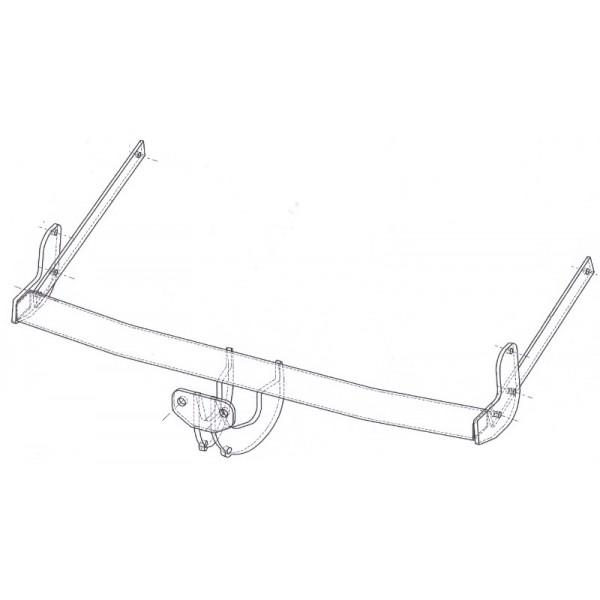 attelage peugeot 206 break standard 11447. Black Bedroom Furniture Sets. Home Design Ideas