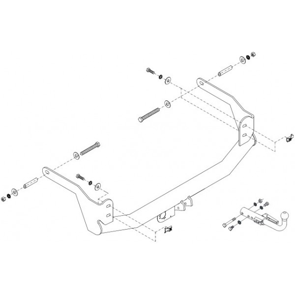 attelage renault laguna berline rotule horizontale 6999. Black Bedroom Furniture Sets. Home Design Ideas