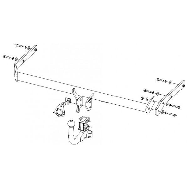 attelage renault grand scenic rdsov 12318. Black Bedroom Furniture Sets. Home Design Ideas