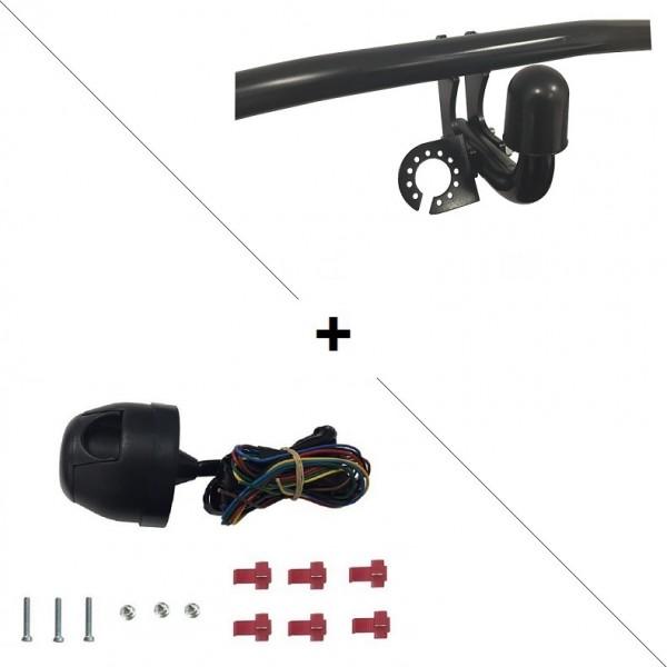 attelage renault twingo col de cygne faisceau universel 7 broches 11747. Black Bedroom Furniture Sets. Home Design Ideas