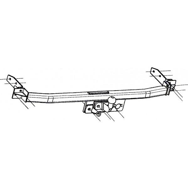 attelage renault twingo standard 1046. Black Bedroom Furniture Sets. Home Design Ideas