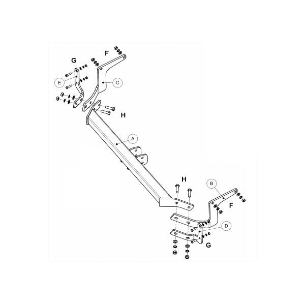 attelage peugeot 308 sw standard 15725. Black Bedroom Furniture Sets. Home Design Ideas