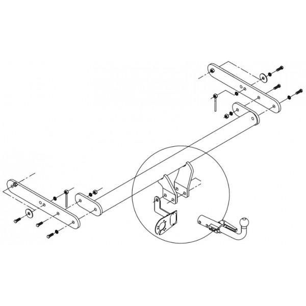 attelage skoda fabia break rotule horizontale 7054. Black Bedroom Furniture Sets. Home Design Ideas