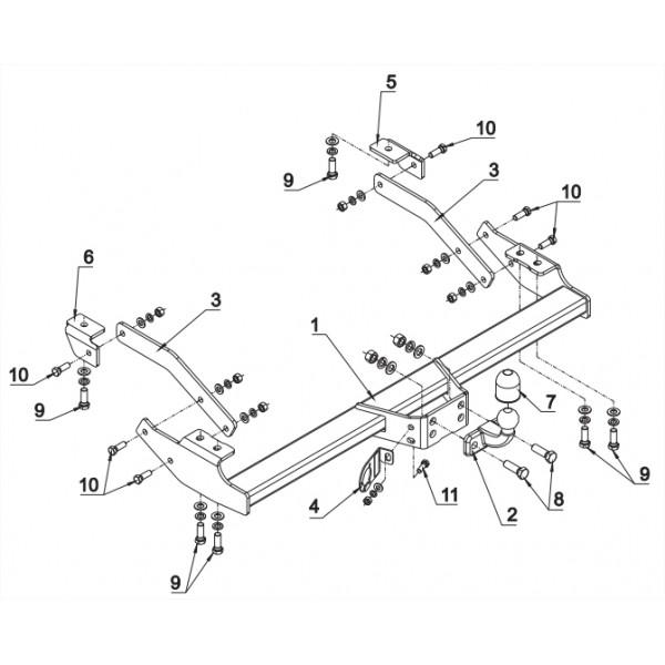 attelage renault trafic standard 15862. Black Bedroom Furniture Sets. Home Design Ideas